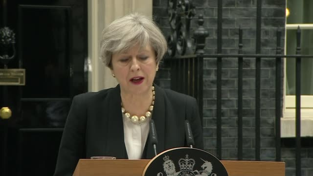UK threat level raised from severe to critical London Downing Street DAY Theresa May speech SOT The threat level remains at severe that means that a...