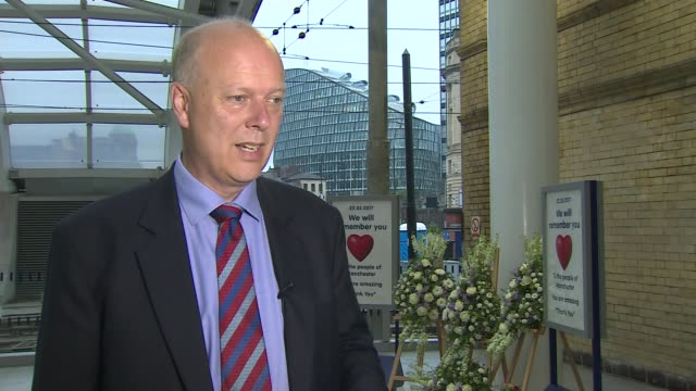 Victoria Station reopens Chris Grayling interview SOT Andy Burnham interview SOT GVs floral tributes