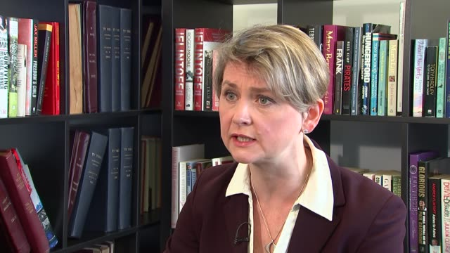 Yvette Cooper interview ENGLAND Manchester INT Yvette Cooper interview SOT re Manchester attack