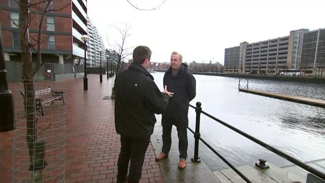 Poem donated to Manchester charity Tony Walsh and ITN Reporter talking