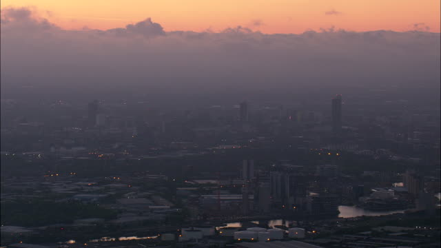 manchester at dawn - manchester england stock videos and b-roll footage