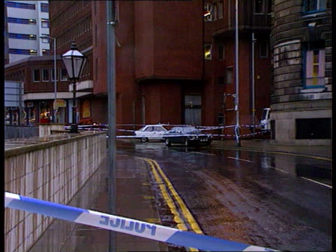 terrorist background manchester ls parked cars behing police tape - 1992 stock videos and b-roll footage