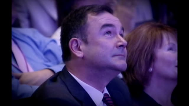 bridgewater hall int jon cruddas mp seated in audience at labour party special conference next hazel blears mp - bridgewater hall stock videos & royalty-free footage