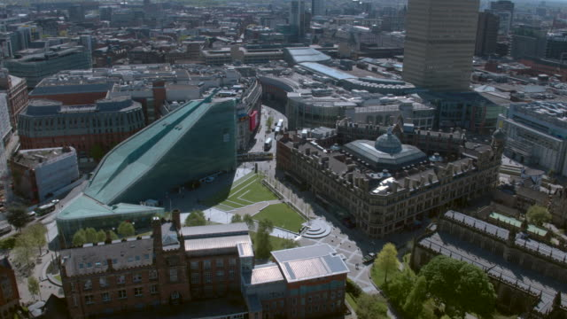 manchester cathedral aerial footage - manchester england stock videos and b-roll footage