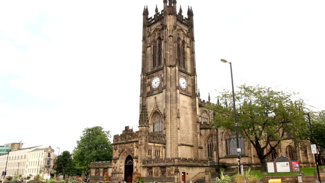 manchester cathedral, uk - manchester stock videos and b-roll footage