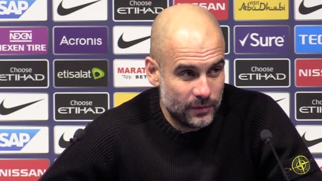 manchester city manager pep guardiola heaps praise on burton albion and their manager nigel clough despite the league one side losing 90 in the first... - first leg stock videos and b-roll footage