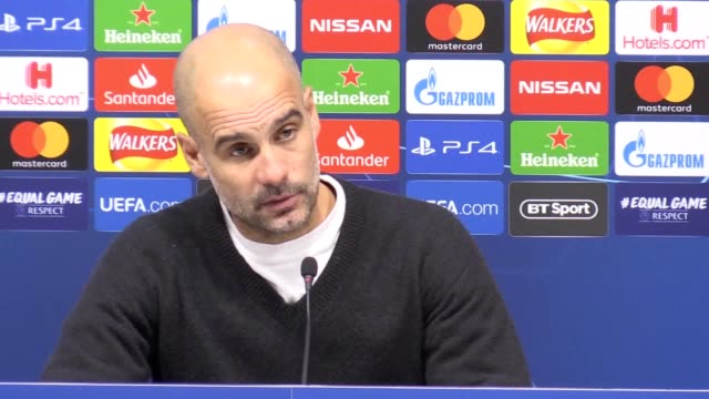 vidéos et rushes de manchester city manager pep guardiola says he did not see var penalty decision in his side's 1-0 loss to tottenham in the champions league. the teams... - var