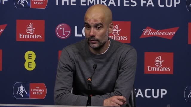 Manchester City manager Pep Guardiola says it is unlikely his side will win all four trophies this season despite City booking a place in the FA Cup...