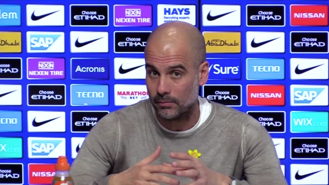 Manchester City manager Pep Guardiola's press conference ahead of his side's Premier League clash with Watford on March 9