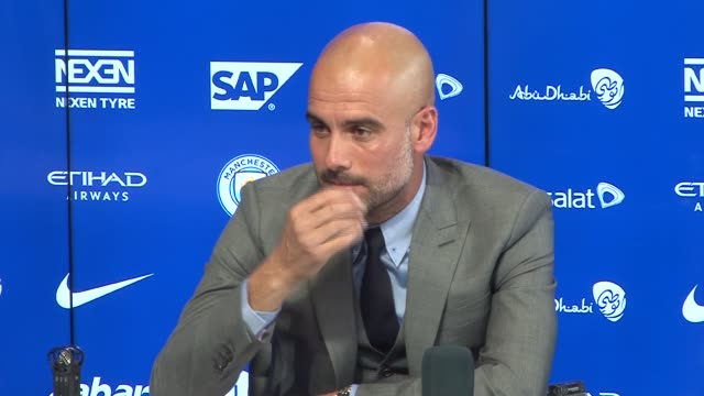 pep guardiola gives first press conference as manager; pep guardiola press conference sot feelings before press conference - always nervous, i am... - last day stock videos & royalty-free footage