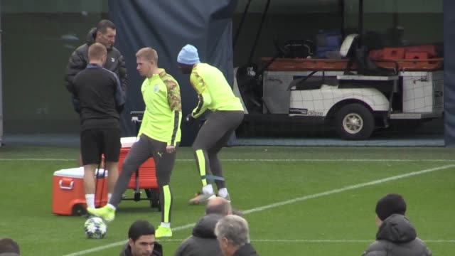 manchester city train ahead of their champions league game away to atalanta. city have so far dominated group e, taking maximum points while... - failure stock videos & royalty-free footage