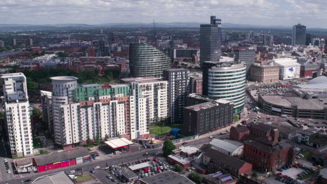 manchester, green quarter, drone footage, - manchester england stock videos and b-roll footage