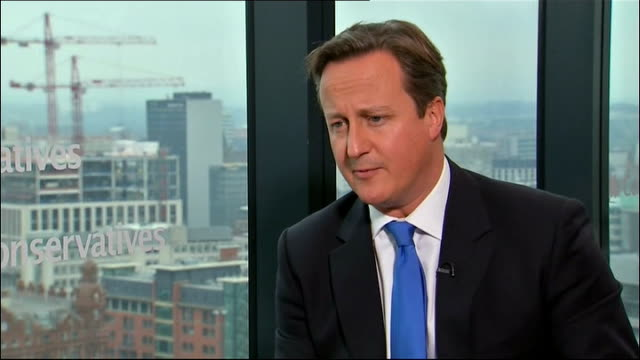 Manchester INT David Cameron MP interview SOT I believe in public service I believe this is a fantastic country with great opportunities and if...
