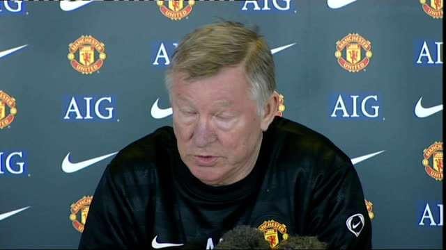 int sir alex ferguson press conference sot no bone damage no serious ligament damage which obviously is good news for us a nation can stop praying - ligament stock videos and b-roll footage