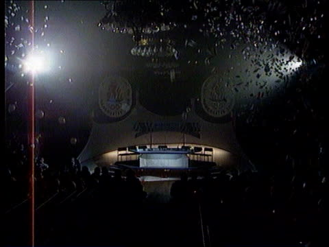 "manchester - olympics 2000 venue bid; england: manchester: town hall: cms illuminated logo of manchester 2000 tls ""manchester 2000"" flashing neon... - bid stock videos & royalty-free footage"