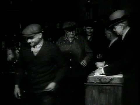 manchester street, cars, amoskeag mills bg. factory workers lined up to get pay check. workers on line, getting paid. pay day, new hampshire. - time of day stock videos & royalty-free footage