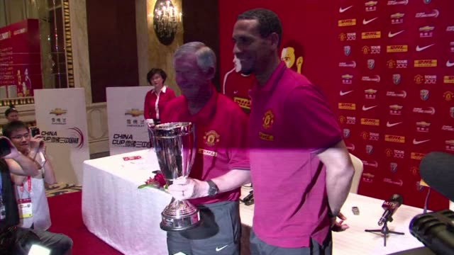 manchester united football team arrived in shanghai on monday on their presaison tour 2012 shanghai china - saison stock videos & royalty-free footage