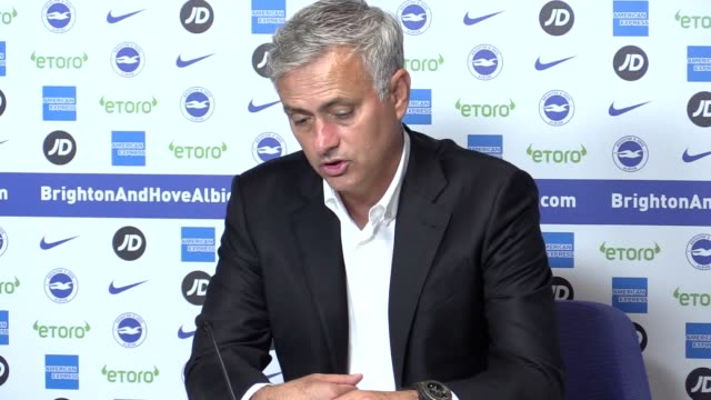 Manchester United manager Jose Mourinho reflects on his side's 32 Premier League defeat at Brighton Firsthalf strikes from Glenn Murray Shane Duffy...