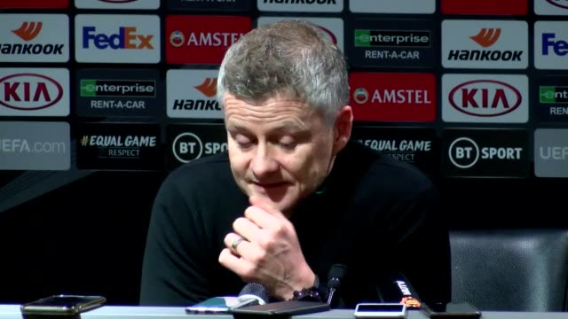 manchester united manager ole gunnar solksjaer stresses that his side are hitting a crucial period of games and wants his team to remain in good... - sports period stock videos & royalty-free footage