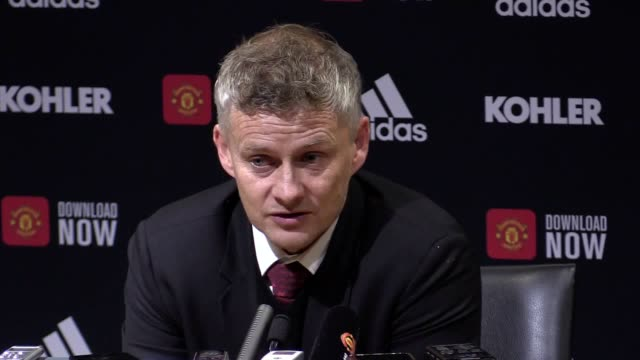 manchester united manager ole gunnar solksjaer's press conference after the 11 draw with liverpool the norwegian dismissed klopp's var complaints... - game of chance stock videos & royalty-free footage