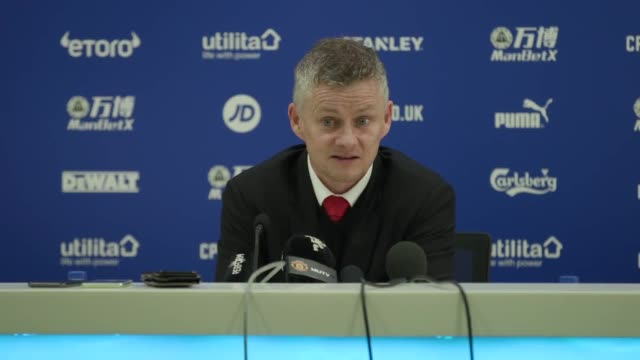 Manchester United manager Ole Gunnar Solskjær praises Romelu Lukaku after the striker scored two goals in United's win over Crystal Palace United's...