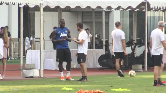 Manchester United players train in Shanghai as part of their preparation for the new season Ole Gunnar Solskjaer's squad will play Tottenham in the...
