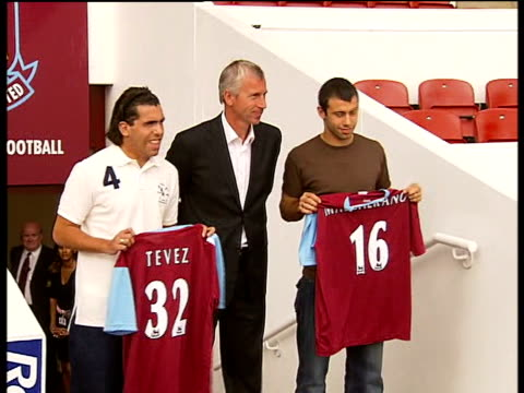 manchester united seek fifa intervention on tevez medical test england london west ham ext various of carlos tevez and javier mascherano along with... - fifa stock videos and b-roll footage