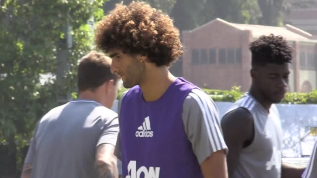 Manchester United train in Los Angeles ahead of their game against LA Galaxy Includes shots of Jose Mourinho Romelu Lukaku Michael Carrick Marouane...
