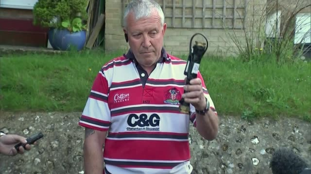 manchester united v bournemouth match abandonnment security firm accept responsibility kent biggin hill chris reid holds up dummy explosive device as... - bournemouth england stock videos & royalty-free footage