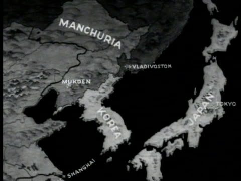 manchuria korea & japan. - manchuria stock videos & royalty-free footage