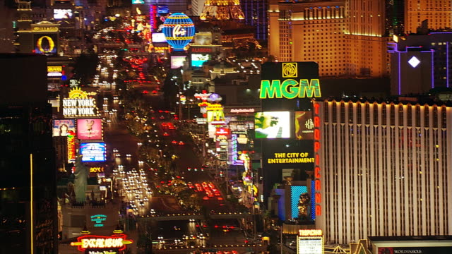 mandalay bay fly-by and the strip - mandalay stock videos and b-roll footage