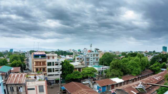 mandalay city time lapse - myanmar stock videos and b-roll footage