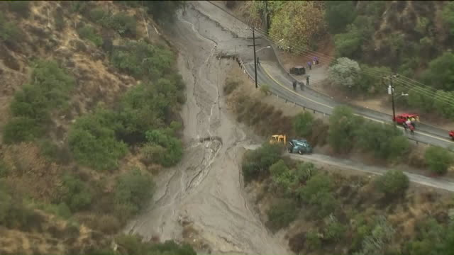 KTLA Mandatory evacuations have been ordered in Burbank in a neighborhood of milliondollar homes that was hit with heavy flooding — as well as a gas...