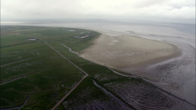 mando  - aerial view - south denmark,  denmark - bog stock videos & royalty-free footage