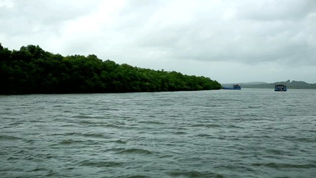 mandovi river, goa - ferry stock videos & royalty-free footage