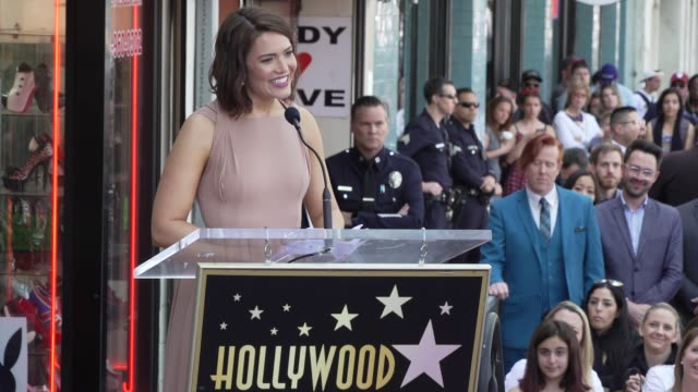 mandy moore at mandy moore honored with a star on the hollywood walk of fame on march 25, 2019 in hollywood, california. - walk of fame stock videos & royalty-free footage