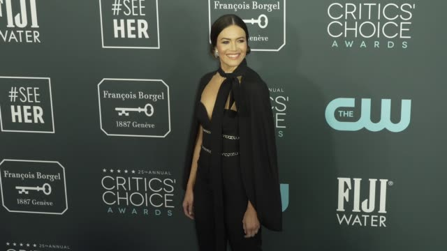 mandy moore at the 25th annual critics' choice awards at barker hangar on january 12 2020 in santa monica california - gif stock videos and b-roll footage