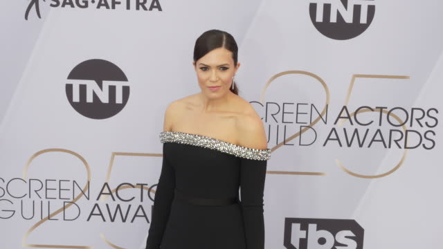 mandy moore at the 25th annual screen actors guild awards at the shrine auditorium on january 27 2019 in los angeles california - 映画俳優組合点の映像素材/bロール