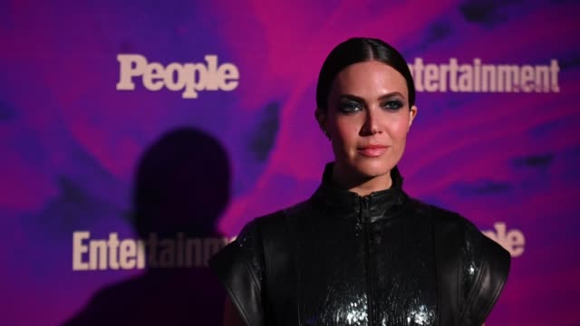mandy moore at the people entertainment weekly 2019 upfronts at union park on may 13 2019 in new york city - entertainment weekly stock videos & royalty-free footage