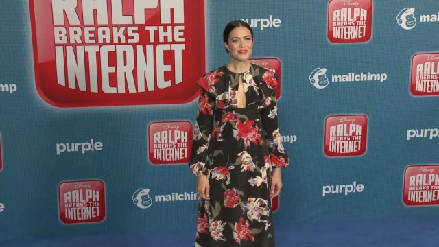 """mandy moore at the """"ralph breaks the internet"""" world premiere at the el capitan theatre on november 05, 2018 in hollywood, california. - el capitan theatre stock videos & royalty-free footage"""