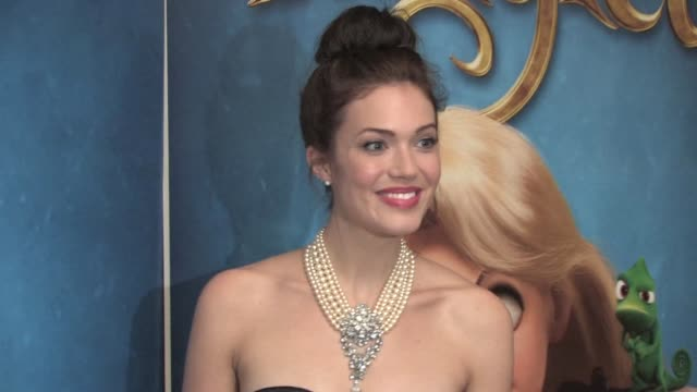 mandy moore at the tangled uk premiere at london england. - tangled stock videos & royalty-free footage