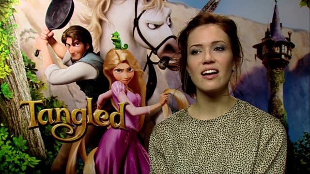 Mandy Moore on how it was a bewildering experience at the Tangled Interviews at London England