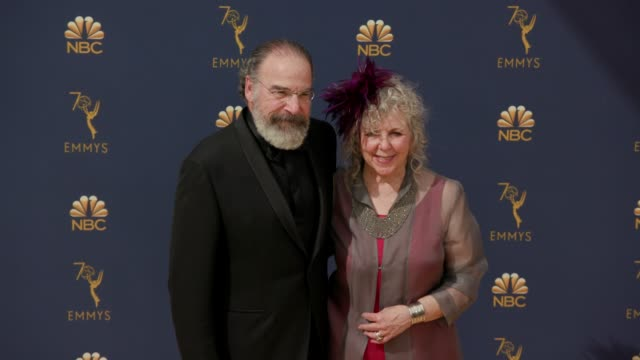 mandy patinkin and kathryn grody at the 70th emmy awards arrivals at microsoft theater on september 17 2018 in los angeles california - 70th annual primetime emmy awards stock videos and b-roll footage