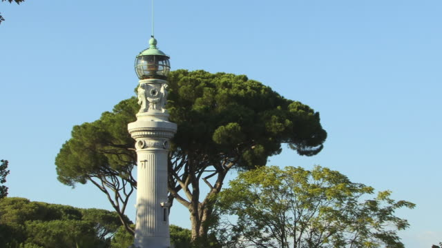 ms, zo, ws, manfredi lighthouse, janiculum, rome, italy - ラツィオ州点の映像素材/bロール