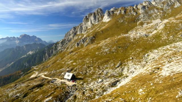 AERIAL Mangart Pass Hut