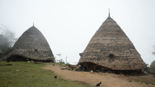Manggarai village in the mist