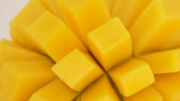 Mango close up rotating. Fruit tropical. Loop.