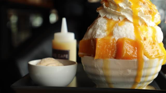 mango dessert - mango stock videos & royalty-free footage