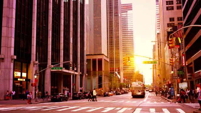 manhattan avenue - avenue stock videos & royalty-free footage