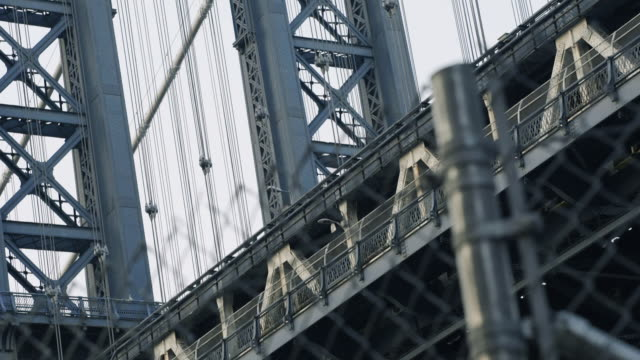 manhattan bridge closeup - reporterstil stock-videos und b-roll-filmmaterial
